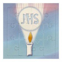 """Copertina di 'Mini puzzle """"IHS"""" per bambini - 12 pezzi'"""