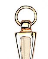 Immagine di 'Croce in metallo dorato con smalto bianco - 7 cm'