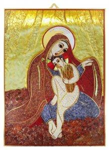Copertina di 'Quadro Madonna delle Spighe Padre Rupnik stampa 21x28 cm - (Monza)'