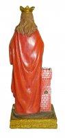 Immagine di 'Statua di Santa Barbara da 12 cm in confezione regalo con segnalibro'
