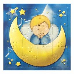 """Copertina di 'Mini puzzle """"Angioletto sulla luna"""" per bambini - 12 pezzi'"""