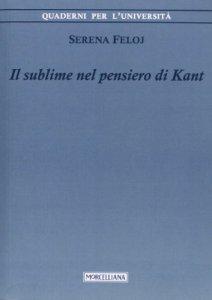 Copertina di 'Il sublime nel pensiero di Kant'
