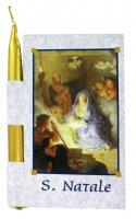 Cartolina 3d del Presepe con candelina