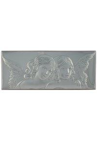 """Copertina di 'Icona in argento """"Angioletti"""" - dimensioni 30x12 cm'"""