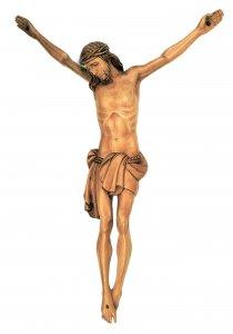 Copertina di 'Cristo intagliato in legno naturale patinato cm 40'
