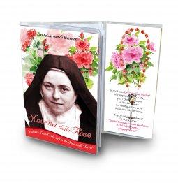 """Copertina di 'Libretto Santa Teresa """"Novena delle Rose"""" con coroncina - italiano'"""