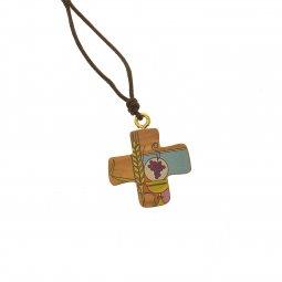 Copertina di 'Croce greca comunione con laccio e cartoncino'