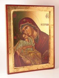 """Copertina di 'Icona in legno """"Madonna col bambino""""'"""