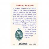 """Immagine di 'Card """"Santa Lucia"""" con preghiera e medaglia - (10 pezzi)'"""