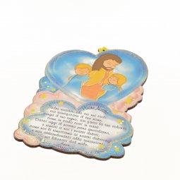 Copertina di 'Quadretto sagomato Padre nostro con Gesù e bambini'