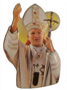 """Copertina di 'Calamita """"Papa Giovanni Paolo II"""" - dimensioni 7x5 cm'"""