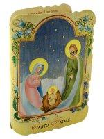 Confezione pieghevole in cartoncino con Gesù bambino fosforescente