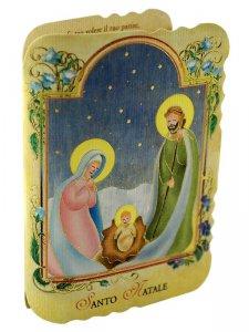 Copertina di 'Confezione pieghevole in cartoncino con Gesù bambino fosforescente'