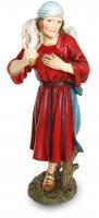 Pastore con agnello per presepe cm 16 - Linea Martino Landi