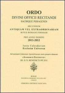 Copertina di 'Ordo divini officii recitandi 2011-2012'