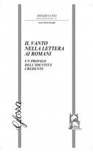 Copertina di 'Il vanto nella Lettera ai Romani'