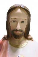 Immagine di 'Statua Sacro Cuore di Gesù in gesso madreperlato dipinta a mano - 80 cm'