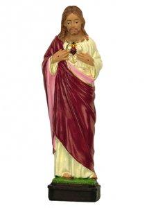 Copertina di 'Statua da esterno del Sacro Cuore di Gesù in materiale infrangibile, dipinta a mano, da circa 16 cm'