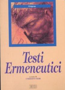 Copertina di 'Testi ermeneutici'