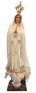 Copertina di 'Statua Madonna di Fatima dipinta a mano con occhi di cristallo e strass (circa 85 cm)'