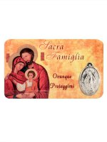 Card medaglia Sacra Famiglia (10 pezzi) di  su LibreriadelSanto.it