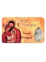 Card medaglia Sacra Famiglia (10 pezzi)