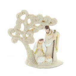 Copertina di 'Presepe da appoggio con albero stilizzato in resina colorata - altezza 8 cm'