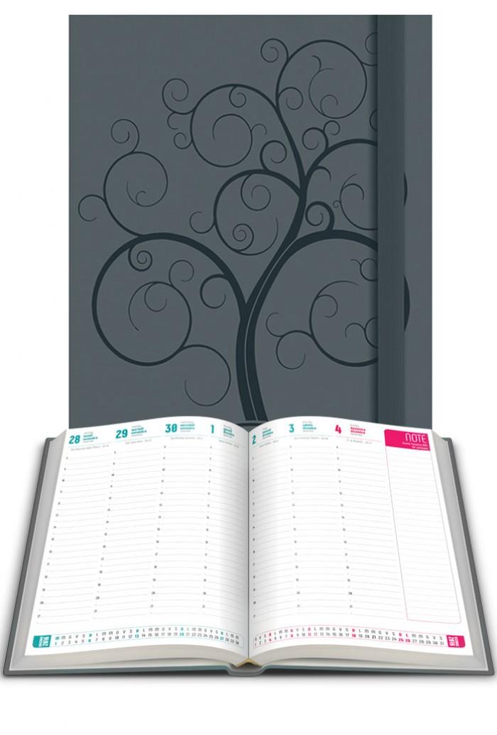 Agenda planning 2017 grigio libro shalom ottobre 2016 agende e calendari - Agenda da tavolo 2017 ...