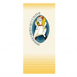 Copertina di 'Stendardo con simbolo del Giubileo della Misericordia (misure 135 x 300)'