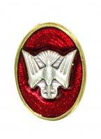 STOCK: Distintivo Spirito Santo in metallo dorato con smalto rosso - 1,5 cm