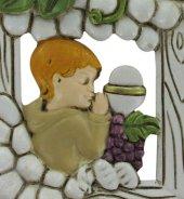 Immagine di 'Bomboniera comunione bambino: Quadretto in resina 6x7,5 cm'