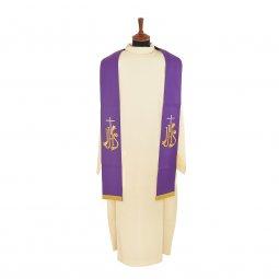 Copertina di 'Stola viola con croce argento e cristogramma IHS dorato'
