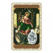 """Card """"Santa Vergine del Rosario di Pompei"""" con preghiera e medaglia - (10 pezzi)"""