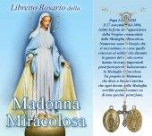 Libretto Rosario  della Madonna Miracolosa e coroncina