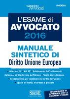 L'Esame di Avvocato 2016 - Manuale sintetico di Diritto Unione Europea - Redazioni Edizioni Simone