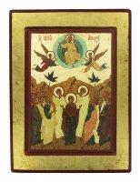 Icona Ascensione di Cristo, produzione greca su legno - 26 x 19,5 cm