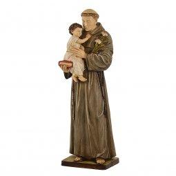 """Copertina di 'Statua sacra in resina colorata dipinta a mano """"Sant'Antonio di Padova"""" - altezza 50 cm'"""