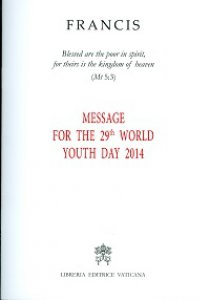 Copertina di 'Message for the 29th World Youth Day 2014.'