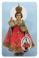Card Gesù Bambino di Praga in PVC - 5,5 x 8,5 cm - italiano