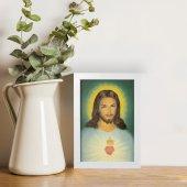 """Immagine di 'Quadretto """"Sacro cuore di Gesù"""" con cornice minimal - dimensioni 15x10 cm'"""