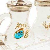 Immagine di 'Servizio ampolline in vetro dipinte a mano'