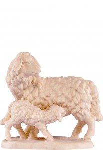 Copertina di 'Pecora con agnello B.K. - Demetz - Deur - Statua in legno dipinta a mano. Altezza pari a 12 cm.'
