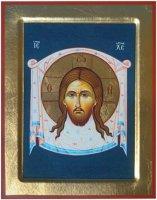 "Icona in legno dipinta a mano ""Mandylion"" - 23 x 18 cm"