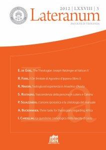 Copertina di 'L'unione ipostatica nel contesto della cristologia del manuale'