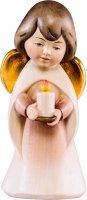 Statuina dell'angioletto con candela, linea da 6 cm, in legno dipinto a mano, collezione Angeli Sognatori - Demetz Deur