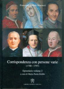 Copertina di 'Corrispondenza con persone varie (1740-1797).'