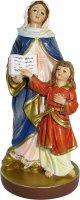 Immagine di 'Statua di Sant'Anna da 12 cm in confezione regalo con segnalibro in versione FRANCESE'