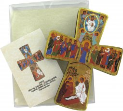 Copertina di 'Croce Mistero Ascensione stampa su legno - 6,5 x 10 cm'
