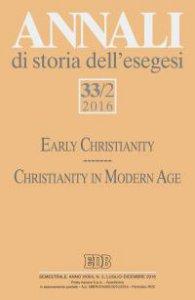 Copertina di 'Annali di storia dell'esegesi 33/2 (2016)'