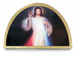Copertina di 'Tavola Gesù Misericordioso stampa su legno ad arco - 18 x 12 cm'
